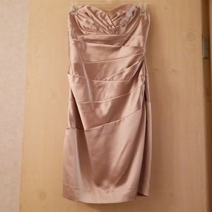 Satin brown bridesmaid dress
